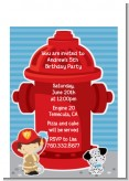 Future Firefighter - Birthday Party Petite Invitations