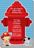 Future Firefighter - Birthday Party Invitations