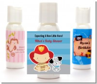 Future Firefighter - Personalized Baby Shower Lotion Favors