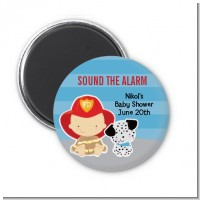 Future Firefighter - Personalized Baby Shower Magnet Favors
