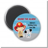 Future Firefighter - Personalized Birthday Party Magnet Favors