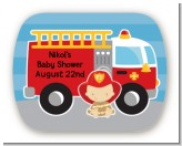 Future Firefighter - Personalized Baby Shower Rounded Corner Stickers