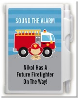Future Firefighter - Baby Shower Personalized Notebook Favor