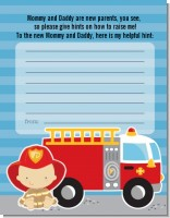 Future Firefighter - Baby Shower Notes of Advice