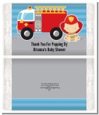 Future Firefighter - Personalized Popcorn Wrapper Baby Shower Favors