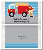 Future Firefighter - Personalized Popcorn Wrapper Birthday Party Favors