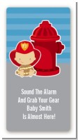 Future Firefighter - Custom Rectangle Baby Shower Sticker/Labels