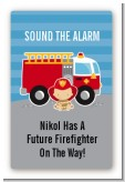 Future Firefighter - Custom Large Rectangle Baby Shower Sticker/Labels