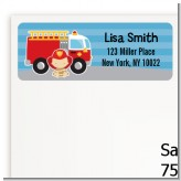 Future Firefighter - Baby Shower Return Address Labels
