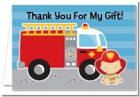 Future Firefighter - Baby Shower Thank You Cards