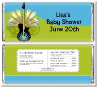Future Rock Star Boy - Personalized Baby Shower Candy Bar Wrappers