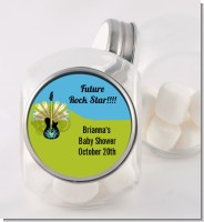 Future Rock Star Boy - Personalized Baby Shower Candy Jar
