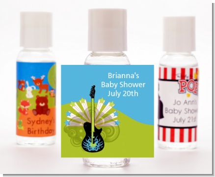 Future Rock Star Boy - Personalized Baby Shower Hand Sanitizers Favors