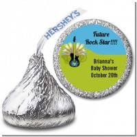 Future Rock Star Boy - Hershey Kiss Baby Shower Sticker Labels