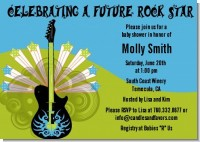 Future Rock Star Boy - Baby Shower Invitations