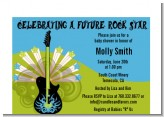Future Rock Star Boy - Baby Shower Petite Invitations