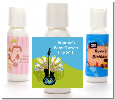 Future Rock Star Boy - Personalized Baby Shower Lotion Favors