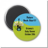 Future Rock Star Boy - Personalized Baby Shower Magnet Favors