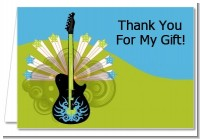 Future Rock Star Boy - Baby Shower Thank You Cards