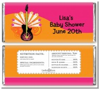 Future Rock Star Girl - Personalized Baby Shower Candy Bar Wrappers