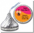 Future Rock Star Girl - Hershey Kiss Baby Shower Sticker Labels thumbnail