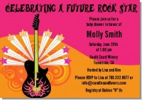 Future Rock Star Girl - Baby Shower Invitations
