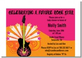 Future Rock Star Girl - Baby Shower Petite Invitations