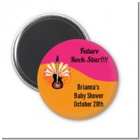 Future Rock Star Girl - Personalized Baby Shower Magnet Favors