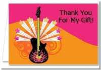 Future Rock Star Girl - Baby Shower Thank You Cards