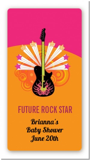 Future Rock Star Girl - Custom Rectangle Baby Shower Sticker/Labels
