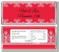 Love is Blooming Red - Personalized Bridal Shower Candy Bar Wrappers thumbnail