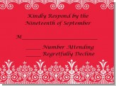 Love is Blooming Red - Bridal Shower Response Cards