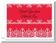 Love is Blooming Red - Bridal Shower Thank You Cards thumbnail