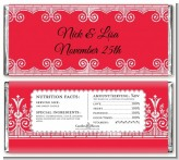 Gardens Of Romance - Personalized Anniversary Candy Bar Wrappers