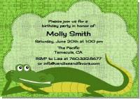 Gator - Birthday Party Invitations