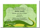 Gator - Baby Shower Petite Invitations
