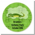 Gator - Round Personalized Birthday Party Sticker Labels thumbnail