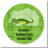 Gator - Round Personalized Birthday Party Sticker Labels