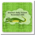 Gator - Square Personalized Baby Shower Sticker Labels thumbnail