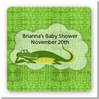 Gator - Square Personalized Baby Shower Sticker Labels
