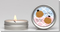 Gender Reveal African American - Baby Shower Candle Favors