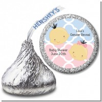 Gender Reveal Asian - Hershey Kiss Baby Shower Sticker Labels