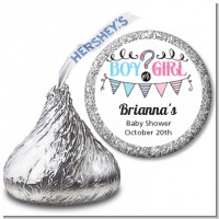 Gender Reveal Boy or Girl - Hershey Kiss Baby Shower Sticker Labels