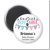 Gender Reveal Boy or Girl - Personalized Baby Shower Magnet Favors