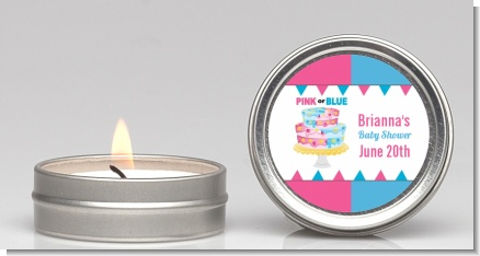 Gender Reveal Cake - Baby Shower Candle Favors