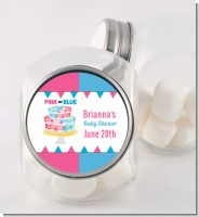 Gender Reveal Cake - Personalized Baby Shower Candy Jar