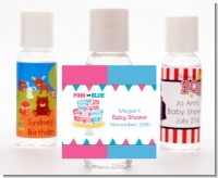 Gender Reveal Cake - Personalized Baby Shower Hand Sanitizers Favors