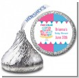 Gender Reveal Cake - Hershey Kiss Baby Shower Sticker Labels thumbnail
