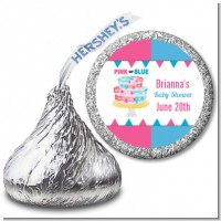 Gender Reveal Cake - Hershey Kiss Baby Shower Sticker Labels