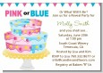Gender Reveal Cake - Baby Shower Invitations thumbnail
